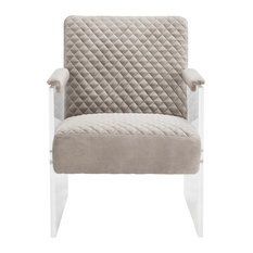 Malena Acrylic Arm Chair, Taupe