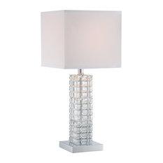 Elegant Lite Source Inc.   Signature 1 Light Table Lamp, Chrome   Table Lamps