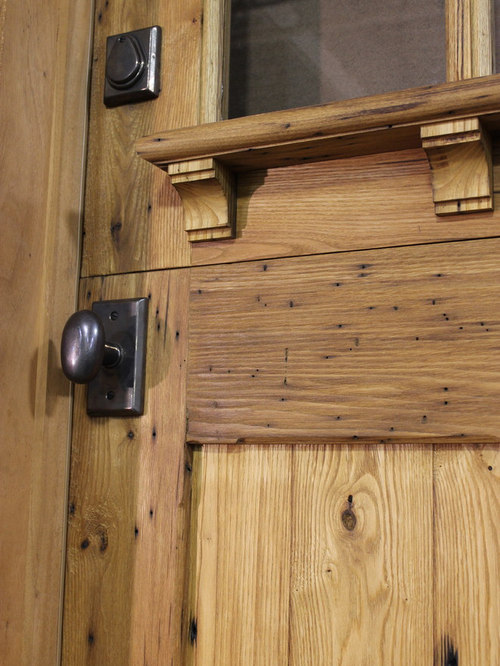Zander Woodworks   Reclaimed Chestnut Dutch Door Detail   Front Doors
