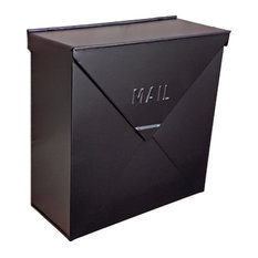 NACH - Chicago Industrial Style Wall Mounted Mailbox, Black - Mailboxes