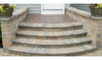 Brick custom design stairs