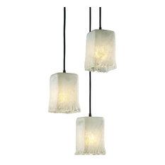 Justice Design Veneto Luce Small 3-Light Cluster LED Pendant, Dark Bronze