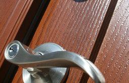 Brushed Nickel Door Handle & Deadbolt