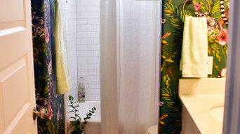 Girls' funky washroom