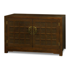 Elmwood Tansu Style Vanity Cabinet, Without Bowl or Faucet