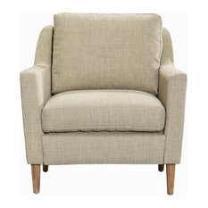 New Pacific Direct Inc. - Elton Arm Chair, State Cream - Armchairs and Accent Chairs
