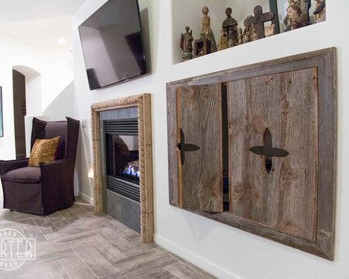 Cabinets - Reclaimed Pine Bi-Fold Cabinet Doors
