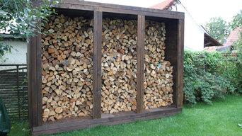 Holzunterstand | Holzlege aus Lärchenholz