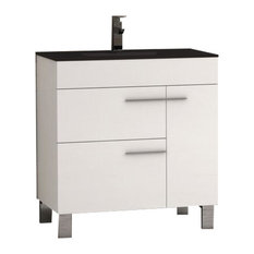 Cup Modern Bathroom Vanity With Integrated Sink, 32""