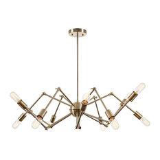 12 light chandelier houzz light society arachnid 12 light chandelier brass chandeliers aloadofball Gallery