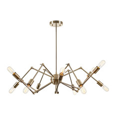50 most popular midcentury modern chandeliers for 2018 houzz light society arachnid 12 light chandelier brass chandeliers aloadofball Gallery