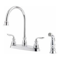 Pfister GT36-4CBC Avalon Two Handle Kitchen Faucet Polished Chrome