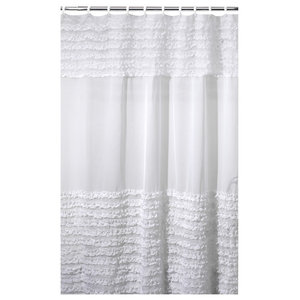 Vintage Crochet Shower Curtain White Shower Curtains By Pom Pom