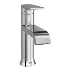 Moen - Moen Genta Chrome 1-Handle Bathroom Faucet - Bathroom Sink Faucets