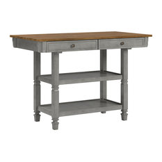 Harvey Two-Tone Kitchen Island Buffet, Antique Grey