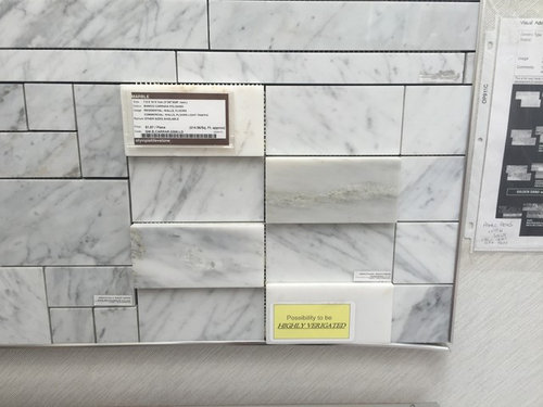 This Is The Marble I Bought For My Kitchen Backsplash What Color Ployblend Unsanded Grout Should Use
