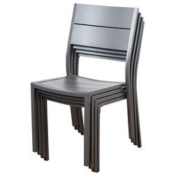 Contemporary Outdoor Dining Chairs by Homesquare