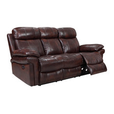 Residence   Rhythm Power Reclining Leather Sofa, Brown   Sofas