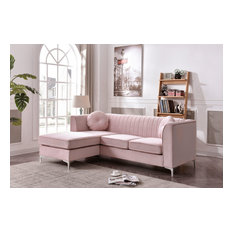 Delray Sofa Chaise Pink