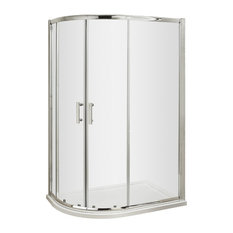 Pacific Offset Quadrant Shower Door, Polished Chrome, 1000x900 mm