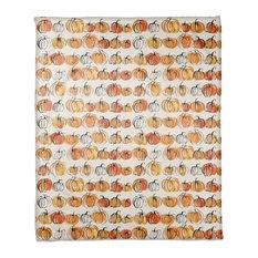 """Watercolor Pumpkins 50""""x60"""" Fleece Blanket"""