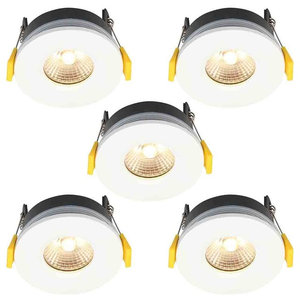 Stanley 5 Pack of Tana Recessed LED Fire Rated Downlighters, White