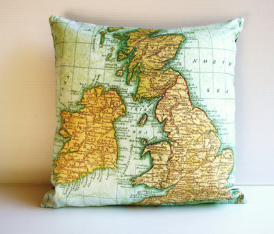 Guest picks around the world with map decor eclectic decorative pillows by etsy gumiabroncs Choice Image