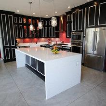 Anaheim Dark Transitional Cabinets Kitchen Remodel