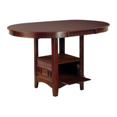Coaster Lavon Counter Height Table, Dark Cherry