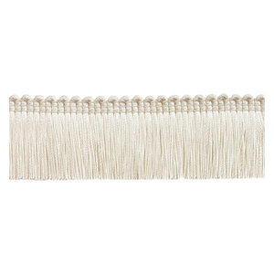"5 Yards Ivory Offwhite 1.25/"" Brush Fringe Trim Victorian Silk"