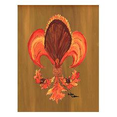Thanksgiving Turkey Fleur De Lis Flag, Garden Size