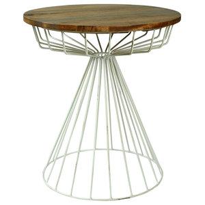 Industrial Loft Birdcage Side Table