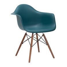Vortex Arm Chair Walnut Leg, Teal