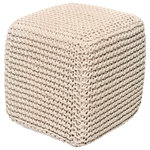 Anji Mountain - Ivory Jute Pouf, Square - This pouf brings some stylish versatility to your living space. Perfectly sized for duty as a stool or an ottoman and ready to switch gears at a moments notice. It sits nice and firm for excellent support yet offers a touch of comfort with a natural jute cover.