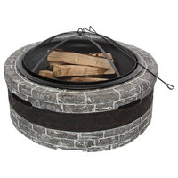 Wood Burning Fire Pit, Stone