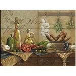 """The Tile Mural Store (USA) - Tile Mural, Olio D Olive by Janet Stever - *20 Tile Mural on 6"""" ceramic satin finish tiles.  AMERICAN MADE !!"""
