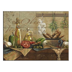 Tile Mural, Olio D Olive by Janet Stever