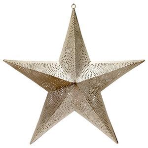 Moroccan Star Pendant Light, Nickel