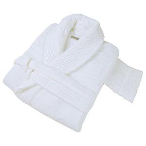 Galata Organic Dressing Gown, White, Large