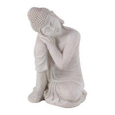 Asian Resin Resting Buddha Sculpture