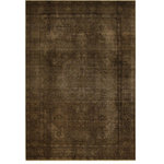 Rugknots - Walnut Brown Overdyed Rug, 6x9 Rectangle - Collection: Vintage