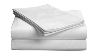 Luxe 618-Count Low Profile Sheet Set, White, Twin