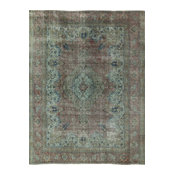 "Overdyed Hand-Knotted Wool Area Rug, 10'3""x12'10"""