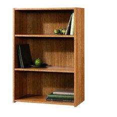 Modern Oak Finish 3-Shelf Bookcase