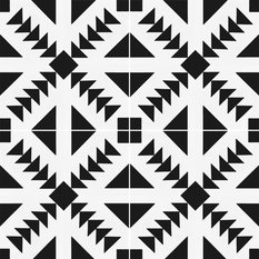 """8""""x8"""" Contemporary Cement Tile n20-316-1100 Black and White, Box"""
