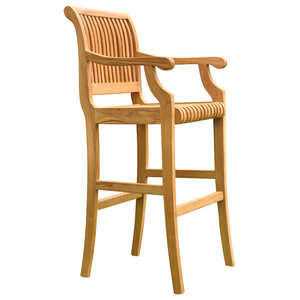 Tremendous St Moritz Grade A Teak Bar Chair Craftsman Outdoor Bar Machost Co Dining Chair Design Ideas Machostcouk