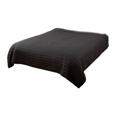 Rizzy Home Urban Mesh Black Twin Size Quilt 70 Inches X 86 Inches