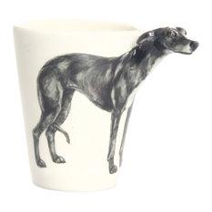 Greyhound 3D Ceramic Mug, Black