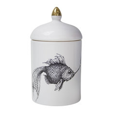 Smoky Fish Ceramic Pot
