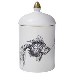 Smoky Fish Ceramic Pot